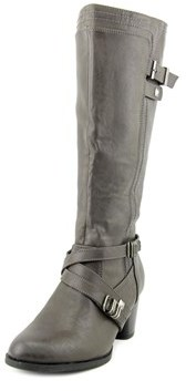 Rialto Claudette Wide Calf Women Round Toe Synthetic Gray Knee High Boot.