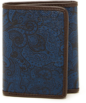 Robert Graham Paisley Trifold Leather Wallet