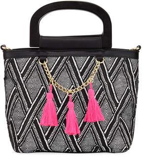 Neiman Marcus Bermuda Tassel Top-Handle Bag