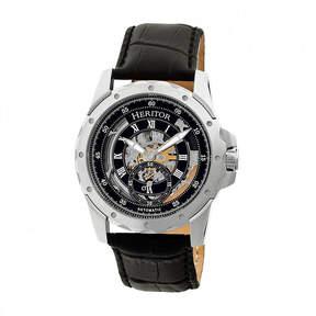 Heritor Armstrong Mens Black Strap Watch-Herhr3402