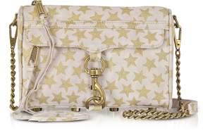 Rebecca Minkoff Nude and Golden Stars Mini MAC Clutch/Shoudler Bag - ONE COLOR - STYLE
