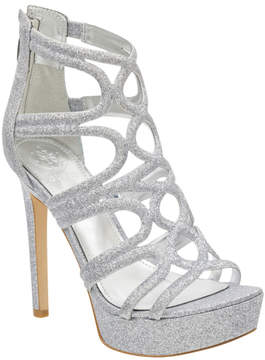 GUESS Venetia Glitter Caged Platform Heels