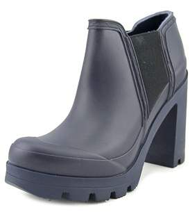 Hunter High Heel Women Round Toe Synthetic Rain Boot.