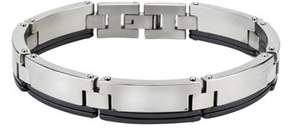 Armani Exchange Jewelry Mens Bracelet In Stainless Steel And Ceramic.