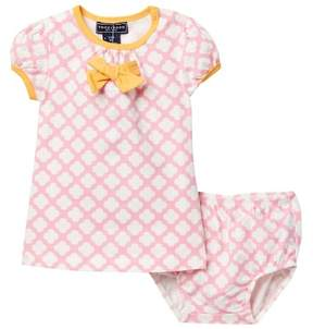 Toobydoo Lucky Bow Dress (Baby, Toddler, & Little Girls)