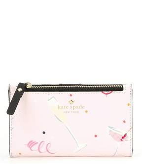 Kate Spade Dashing Beauty Cheers Mikey Bifold Wallet