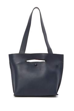 Sondra Roberts Colorblock Leather Tote Bag