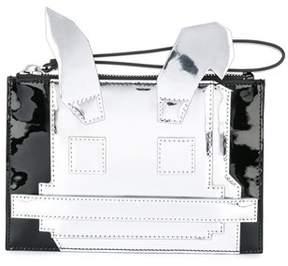 McQ Women's White/black Leather Clutch.