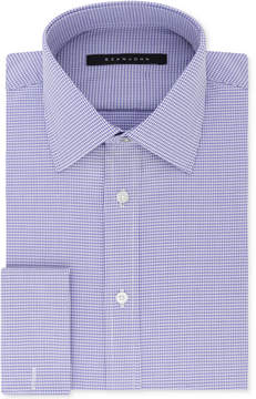 Sean John Men's Big and Tall Classic/Regular Fit Purple French Cuff Dress Shirt