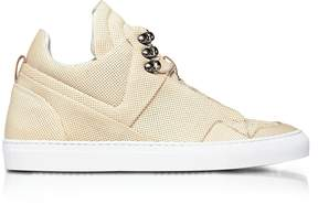 Ylati Poseidon Crust Perforated Leather High Top Men's Sneakers