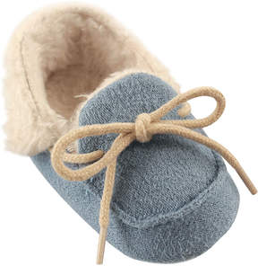 Luvable Friends Blue Cozy Fleece Moccasin - Boys