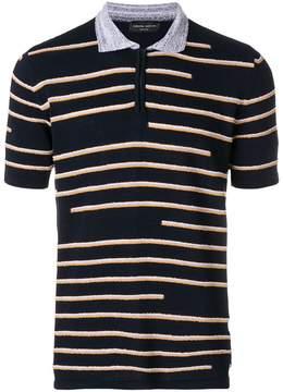 Roberto Collina stripe pattern polo shirt