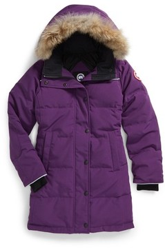 Canada Goose Girl's Juniper Down Parka With Genuine Coyote Fur Trim