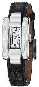 Chopard La Strada White Dial Black Leather Ladies Watch