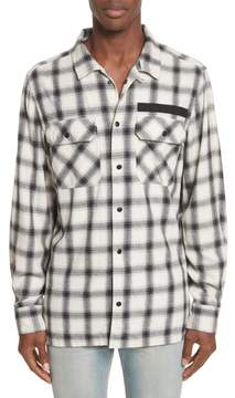 Ovadia & Sons Oversize Plaid Military Shirt