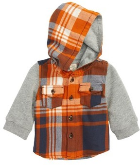 Tucker + Tate Infant Boy's Flannel Hoodie