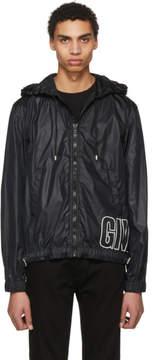 Givenchy Black Nylon Logo Windbreaker Jacket