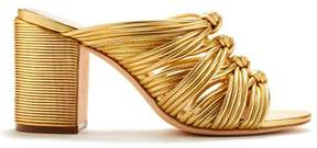 Rachel Zoe | Odessa Metallic Leather Knotted Mules | 6.5 us | Gold
