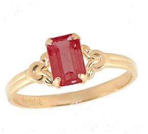 Ice 10K Gold Girls' January Birthstone Ring (Size 4)