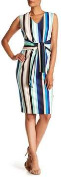 ECI V-Neck Stripe Dress