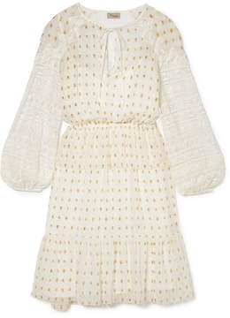 Temperley London Wondering Lace-paneled Fil Coupé Georgette Dress - White