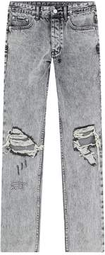 Ksubi Embroidered Cropped Jeans