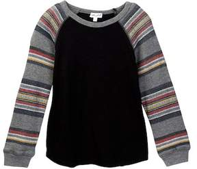 Splendid Long Sleeve Raglan Printed Thermal (Toddler Boys)