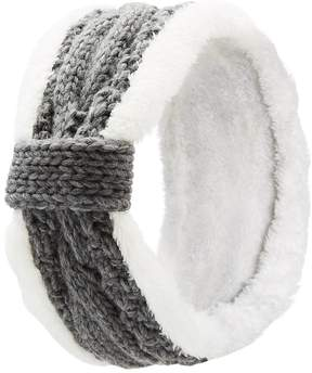 Charlotte Russe Shearling Trim Cable Knit Headband