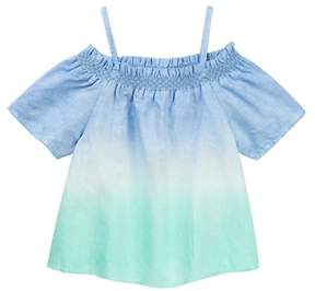 Joe's Jeans Off-the-Shoulder Dip Dye Top (Little Girls)
