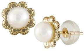 Splendid Pearls 14k Yellow Gold Kids Earrings.