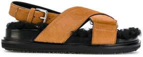 Marni Fussbett pony skin sandals