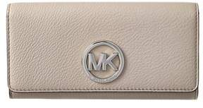 MICHAEL Michael Kors Fulton Leather Carryall Wallet. - CEMENT - STYLE