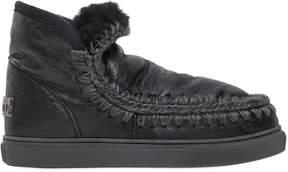 Mou 40mm Mini Eskimo Crackled Leather Boots