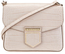 Givenchy Nobile Mini Crocodile-Embossed Shoulder Bag