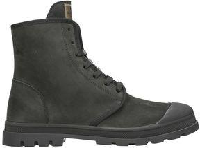 Jil Sander Black Leather Combat Boots
