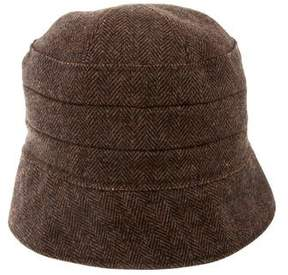 Dolce & Gabbana Leather-Trimmed Wool Hat w/ Tags