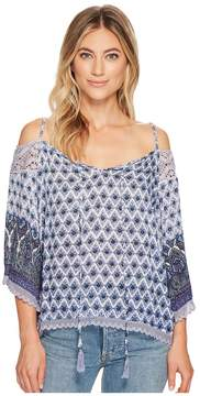 Angie Cold Shoulder Top Women's Clothing