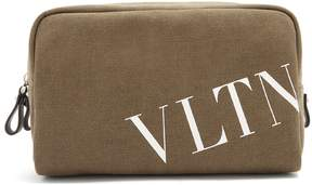 Valentino Logo-print canvas wash bag