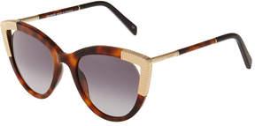 Balmain Cat-Eye Tortoiseshell Acetate Sunglasses