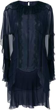 Alberta Ferretti asymmetric ruffle blouse