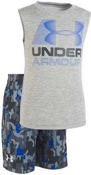 Under Armour Toddler Boy Logo Graphic Tank Top & Camouflage Shorts Set