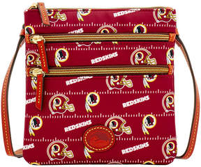 Dooney & Bourke Washington Redskins Nylon Triple Zip Crossbody - MAROON - STYLE