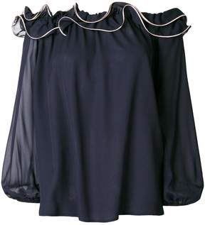 Blumarine off-the-shoulder ruffle blouse