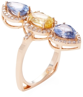 Artisan Women's 18K Rose Gold, Sapphire & 0.54 Total Ct. Diamond Ring