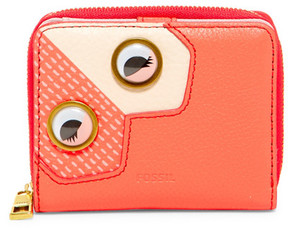 Fossil Emma Leather Eye Mini Multi Bi-Fold Wallet
