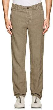 James Perse MEN'S SLUB LINEN UTILITY PANTS