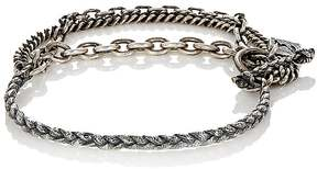M. Cohen Men's Two-Layer Flail Chain Bracelet