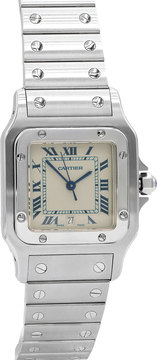 Cartier Pre-Owned 29mm Men's Santos Bracelet Watch
