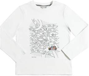 Paul Smith Cars Printed Cotton Jersey T-Shirt