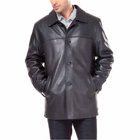 Asstd National Brand Samuel Leather Car Coat Big and Tall